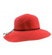 Wide brim hat - Anna - red