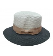 Fedora hat - Josephine - in two tone light grey/dark grey
