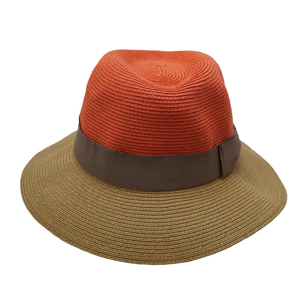 Fedora hat - Josephine - orange/camel