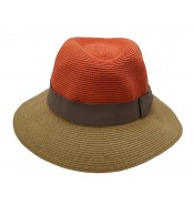 Fedora hat - Josephine - orange/camel