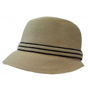 Small brim hat - Lotte - natural/black