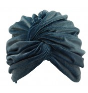 Turban - Aliyah - velvet - grey blue