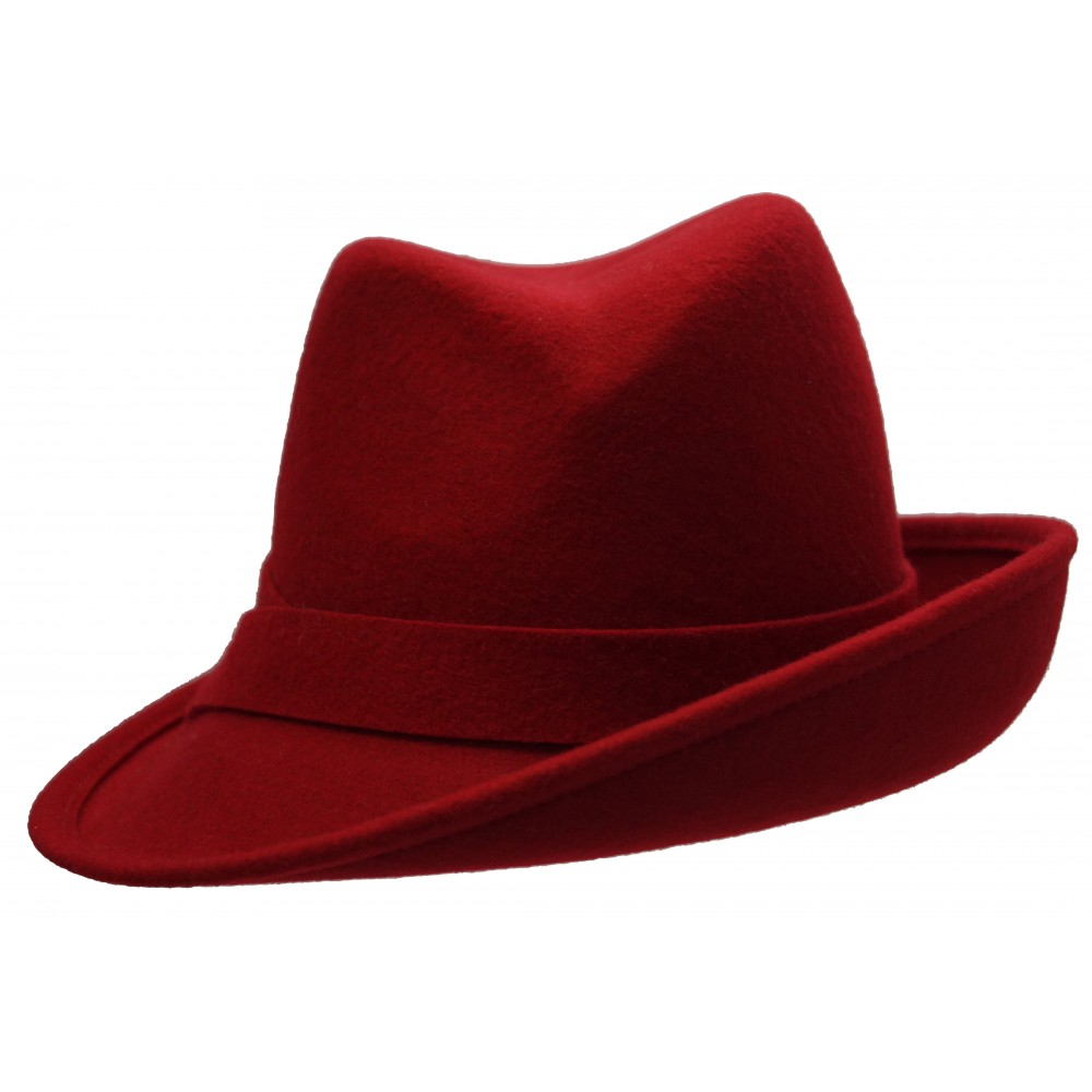 Trilby Hat - Claudette - red