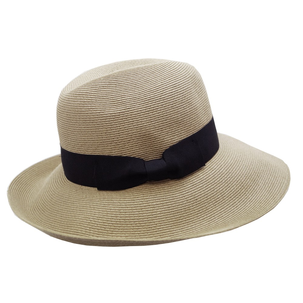 Wide brim hat - Cien - natural/ black