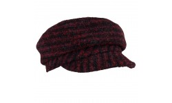 Cap - Ella- red/black tweed
