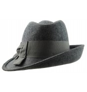 Trilby hat - Sarah - grey mix