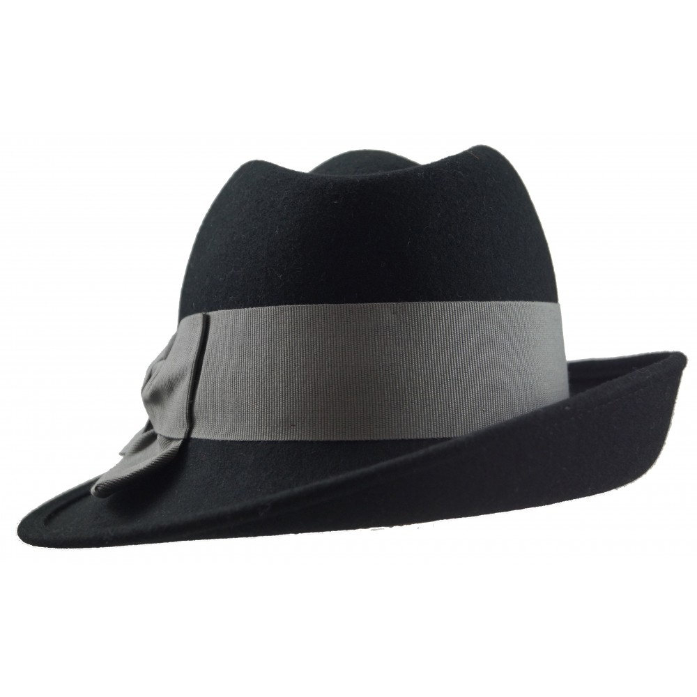 Trilby hat - Sarah - black/grey