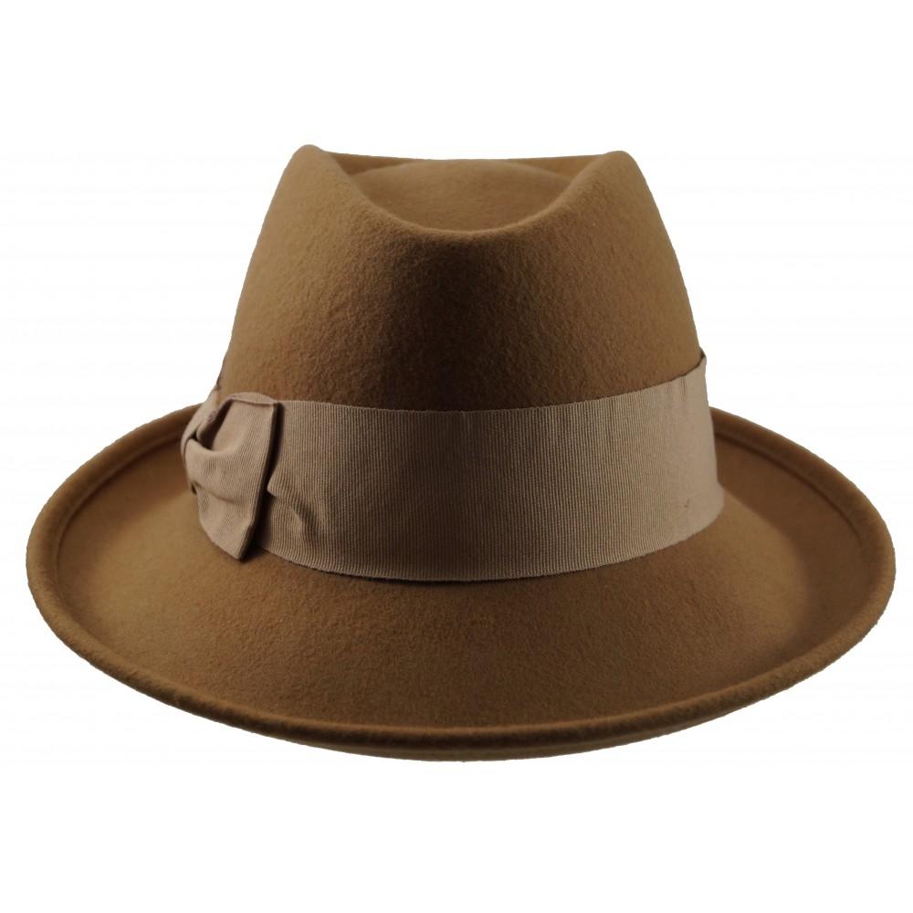 Fedora Hat - Natalia - dark camel
