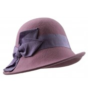 Small brim hat - Edith - pink/lilac
