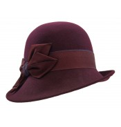 Small brim hat - Edith - prune
