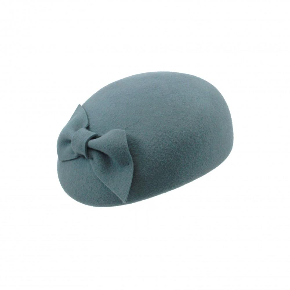 Pillbox hat - Willemijn - acqua