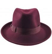 Fedora Hat - Natalia - burgundy
