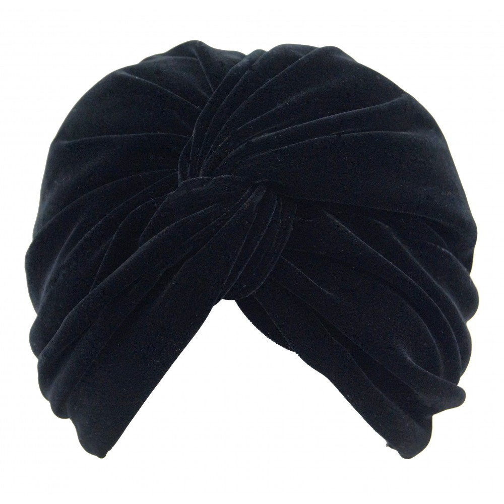 Turban - Jasmijn - black velvet
