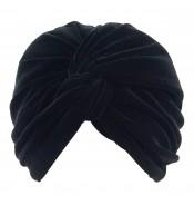 Turban - Jasmijn - Velvet -Black