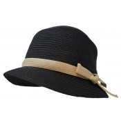 Small brim hat - Tessa - black/natural