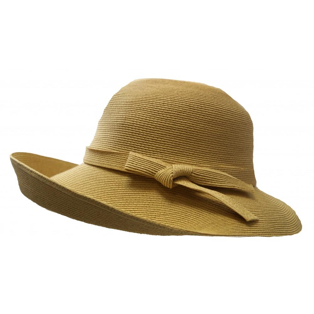 Wide brim hat - Joanna - camel
