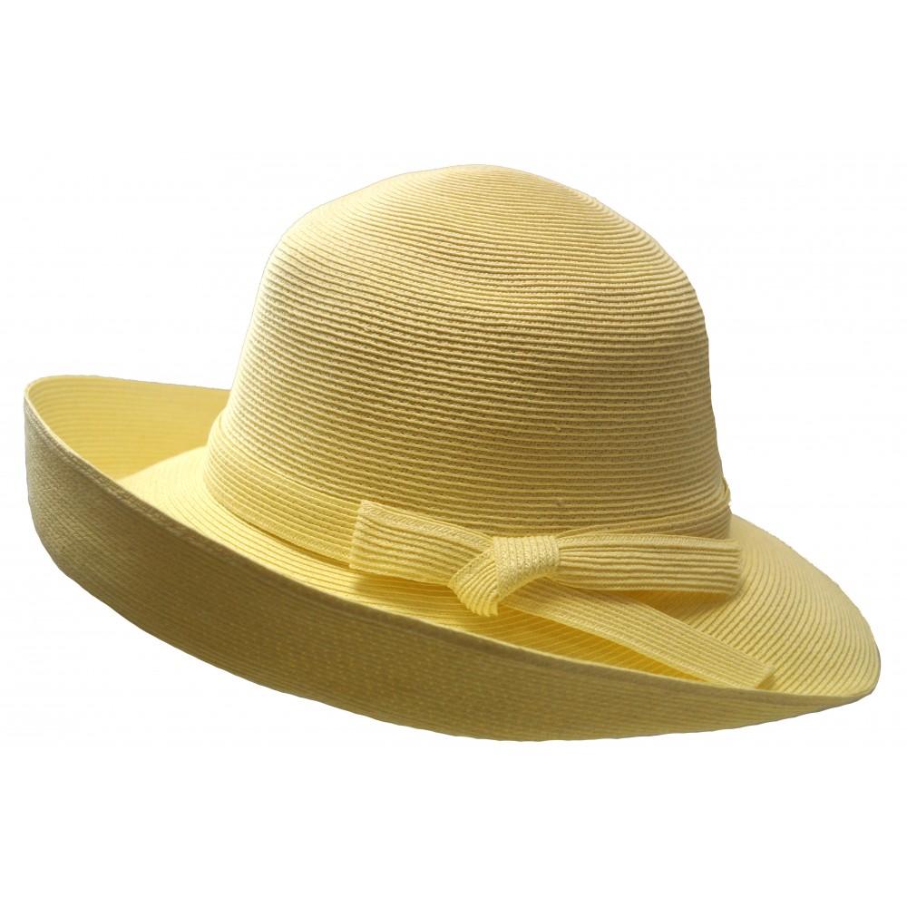 Wide brim hat - Joanna - ivory