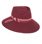 Fedora hat – Macy – Burgundy red