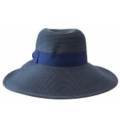Wide brim hat - Jacqueline - navy