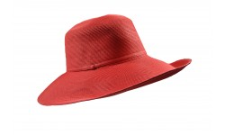 Wide Brim hat -Melina - in colour red