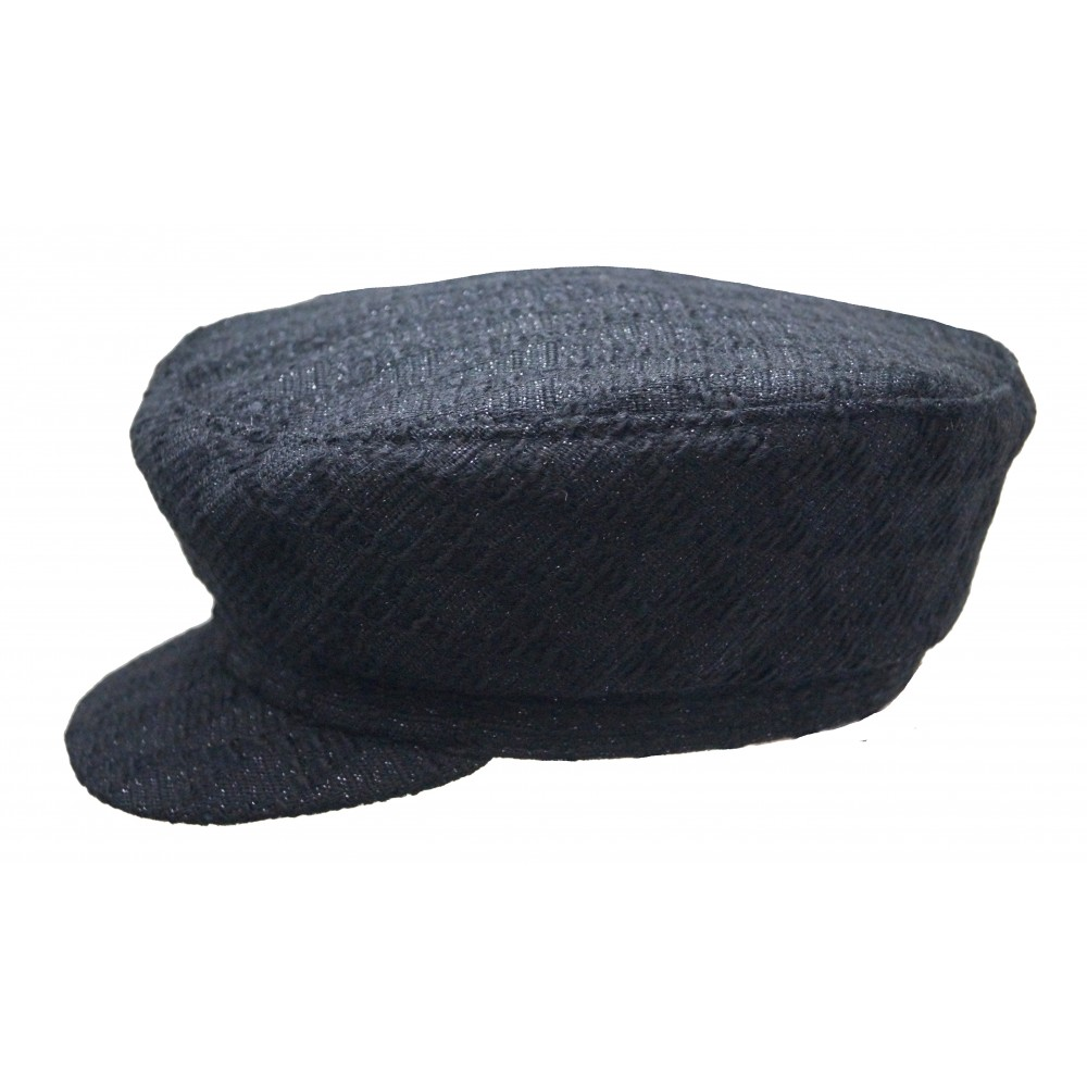 Cap - Brandon - Black Tweed