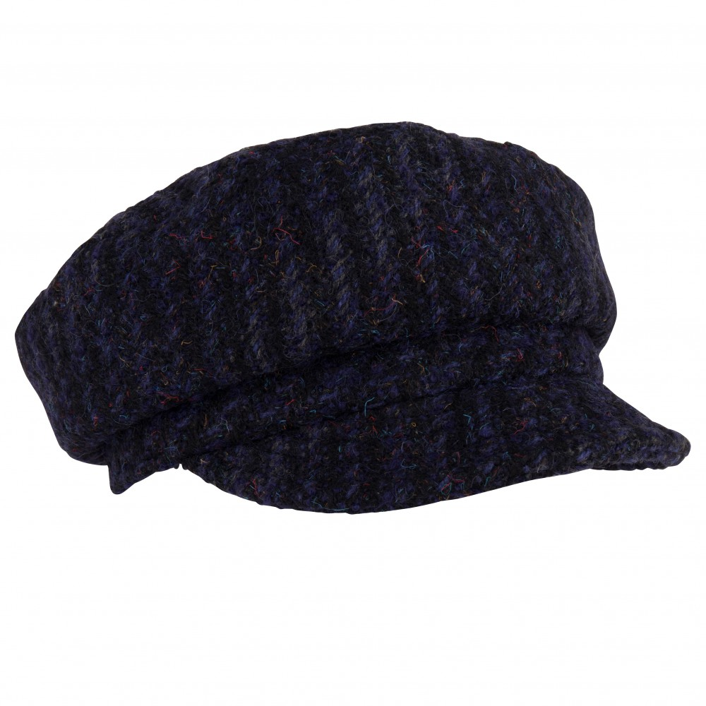 Cap - Ella- blue/black tweed