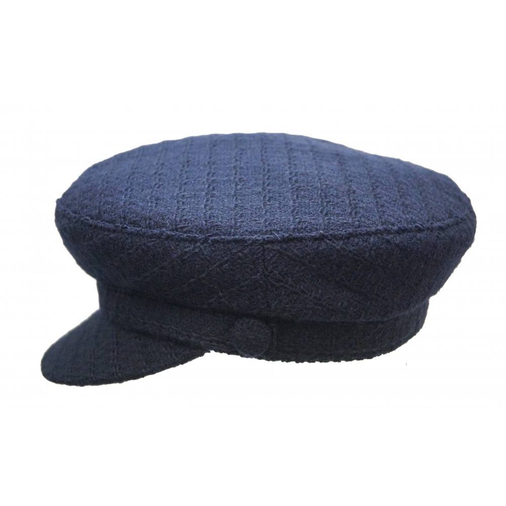Cap - Shipper's - Navy Tweed