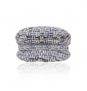 Cap - Shipper's - grey Linton tweed