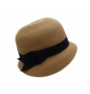 Small brim hat - Cloche - camel