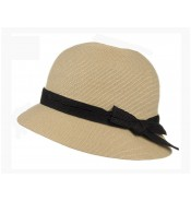 Small brim hat - Tessa - natural/black