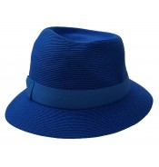 Trilby hat - Greta - royal blue