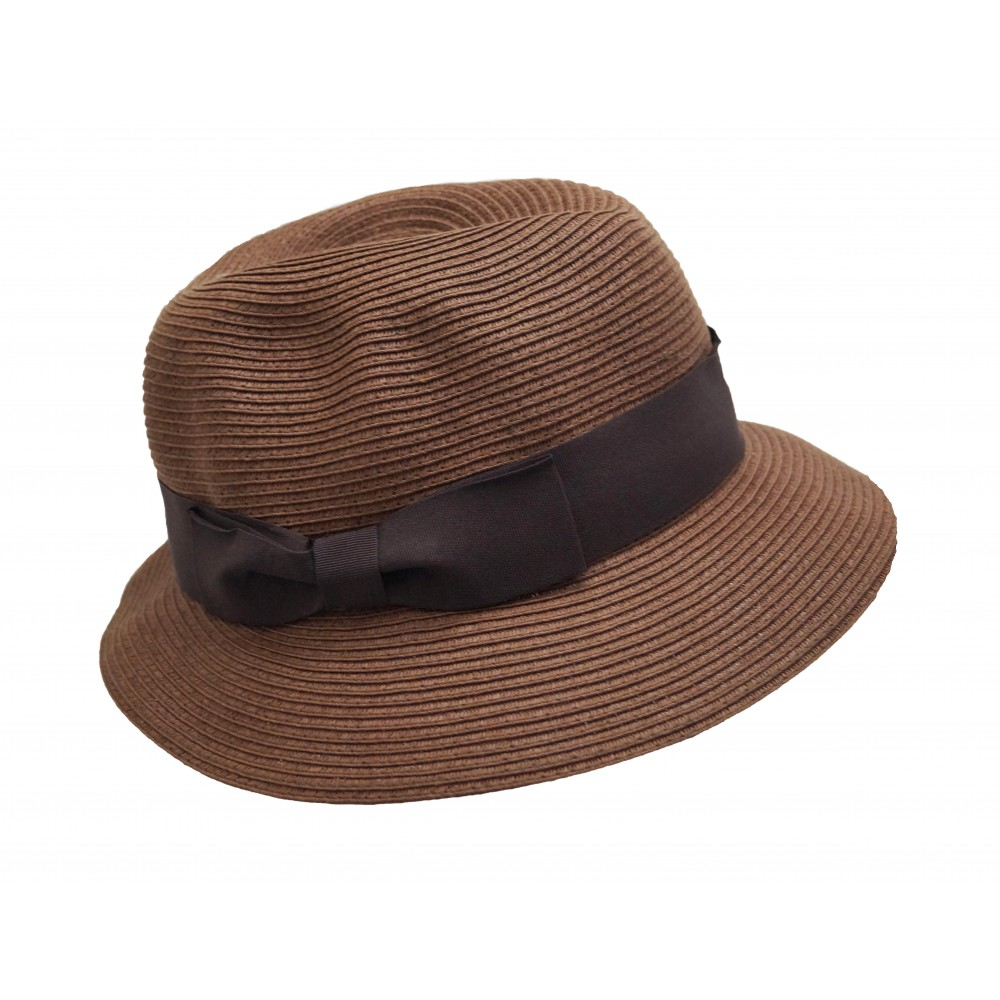Trilby hat - Fisher hat - tan brown
