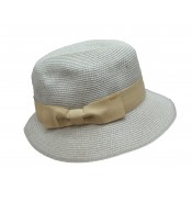 Trilby hat - Fisher hat - pale grey