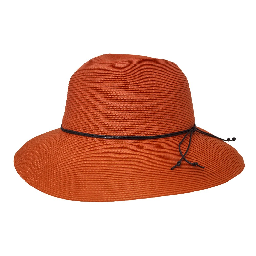 Wide brim hat - Anna - orange