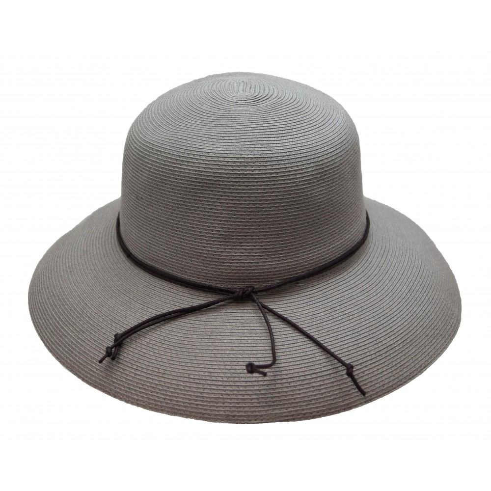 Wide brim hat - Anna - greige grey