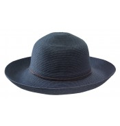 Wide brim hat - Anna - navy