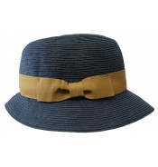 Trilby hat - Fisher - Navy/camel