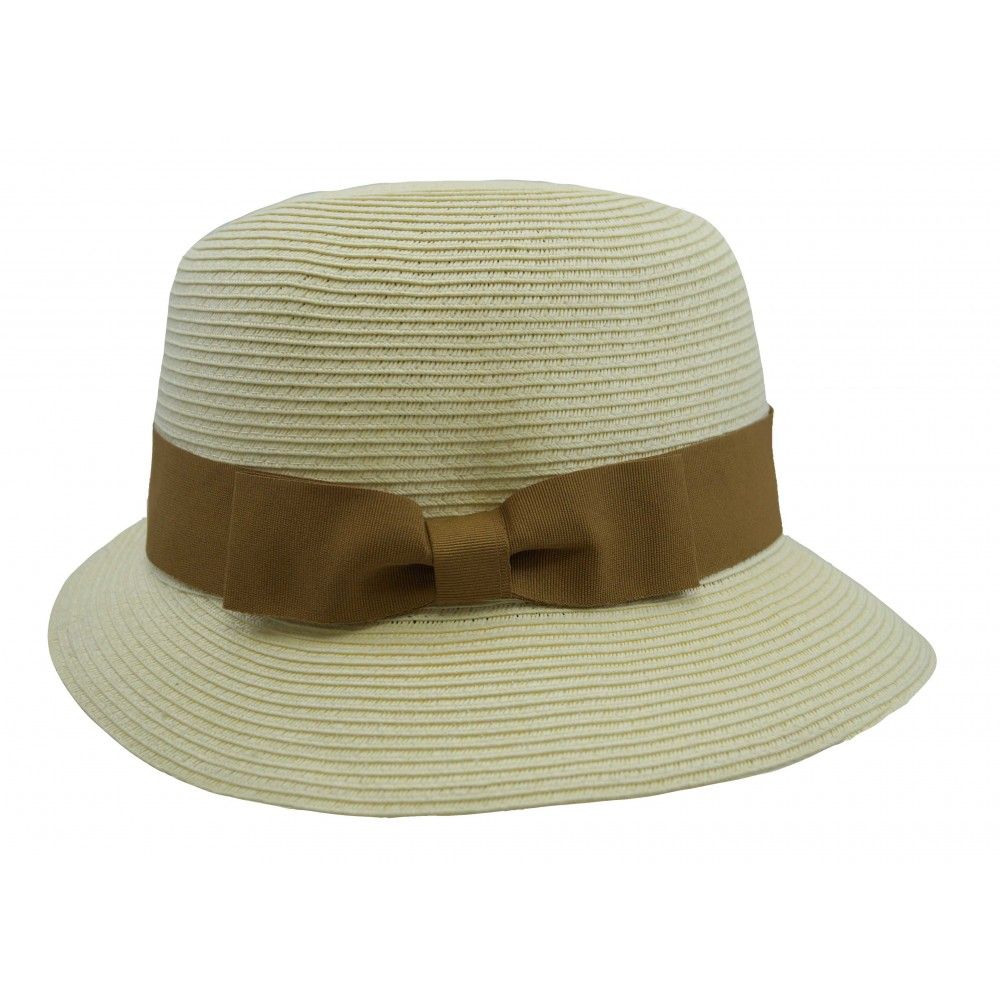 Trilby hat - Fisher hat  - ivory/ camel