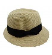 Trilby hat - Fisher hat - natural/black