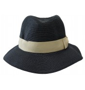 Fedora hat - Josephine - Black/cream
