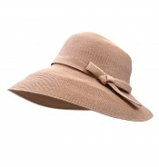 Wide brim hat - Joanna - dusty pink