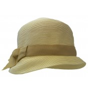 Small brim hat - Cloche - ivory