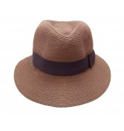 Fedora hat - Josephine - Tan brown