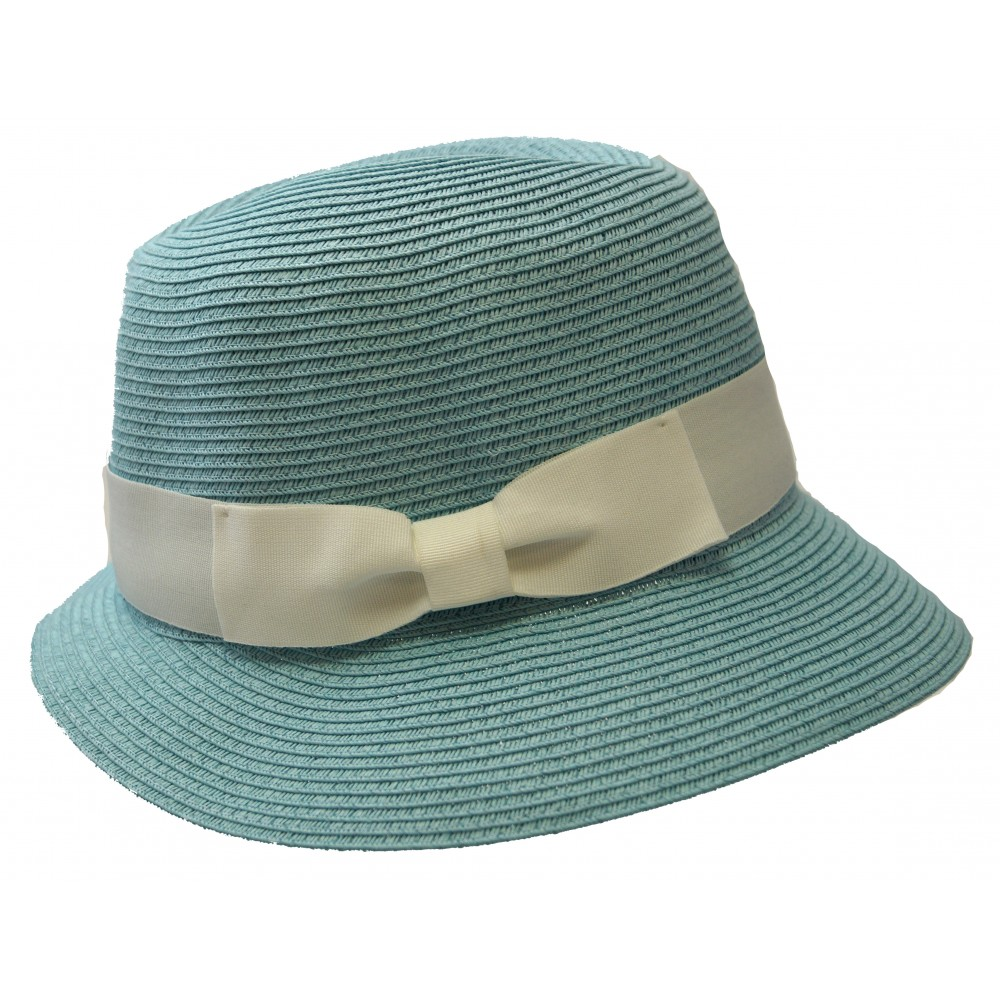 Trilby hat - Fisher hat - turquoise