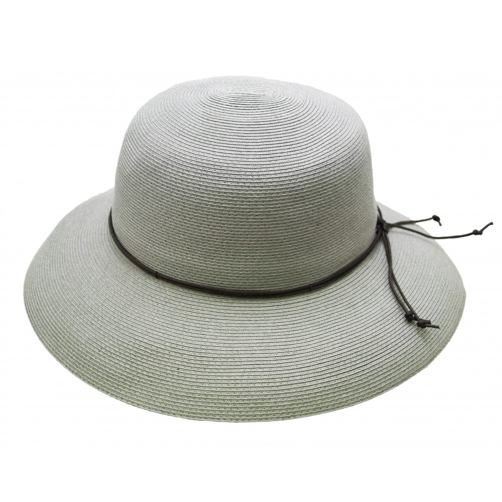 Wide brim hat - Anna - pastel grey