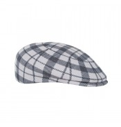 Cap - Ashley -  light grey check