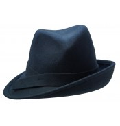 Trilby Hat - Claudette - steel blue