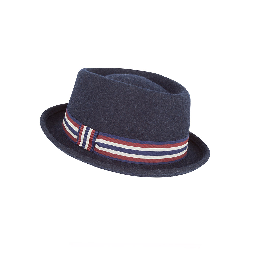 Pork pie hat - Nova - wool felt - navy