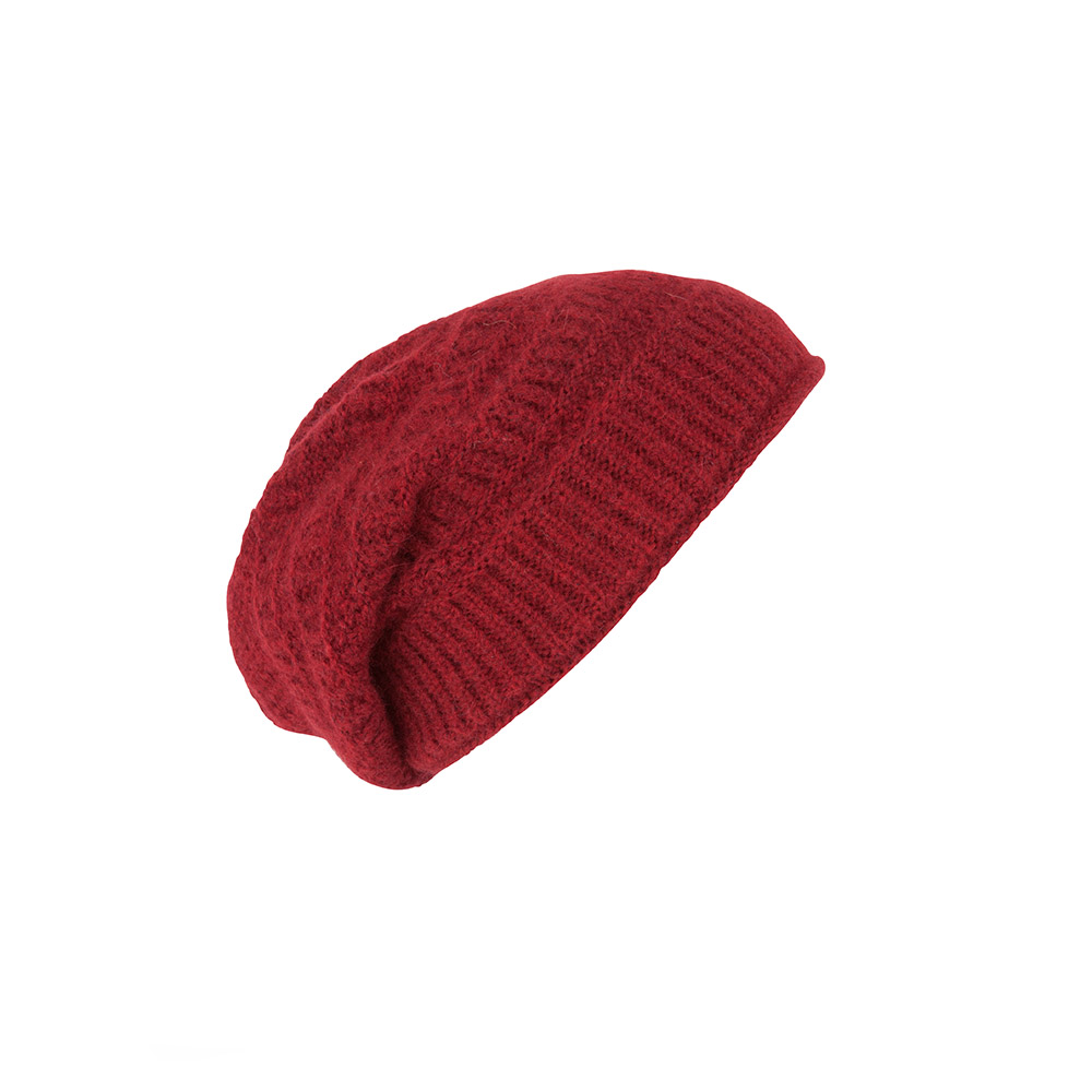 Beanie - Sasha - dark red