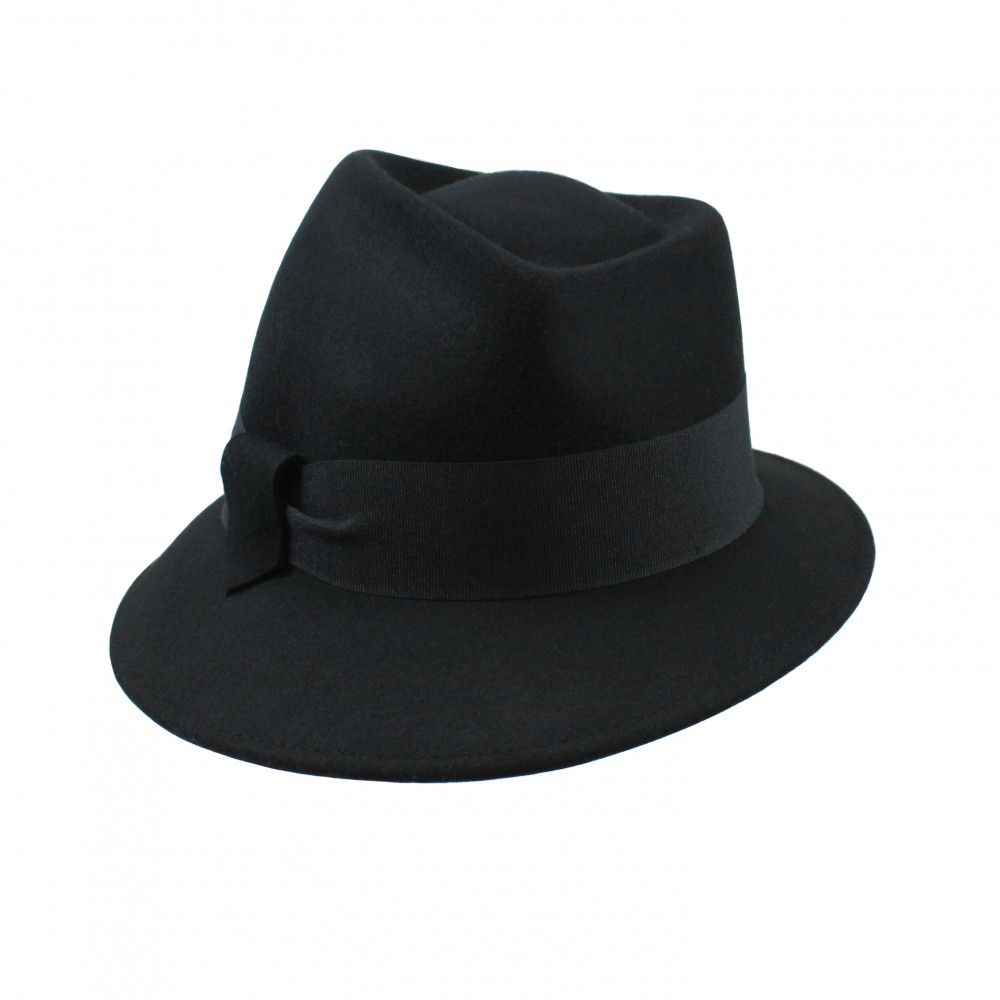 Trilby hat - Jade - black